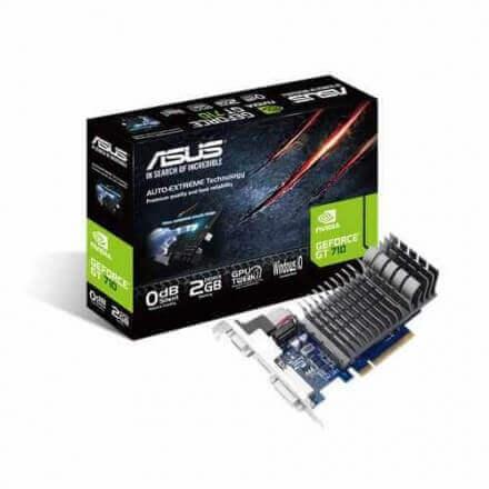 VGA ASUS GT710-2-SL 2GB DDR3 HDMI DVI PASIVA - Imagen 1