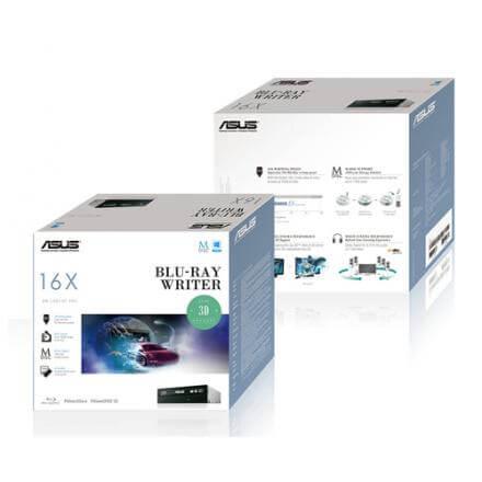 Asus Grabadora Blu-ray  Bw-16d1ht/blk/b/as Interna Sata Bulk Negro - Imagen 1