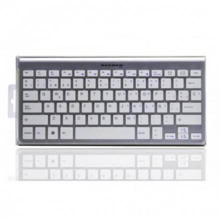 Kl-tech Teclado Ktb0025 Mini Bluetooth Aluminio Blanco - Imagen 1