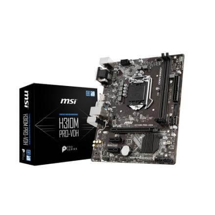 Pb Msilga1151h310m Pro-vhd Matx 4xddr4 32gb 4xsata3 Displayport Dvi - Imagen 1