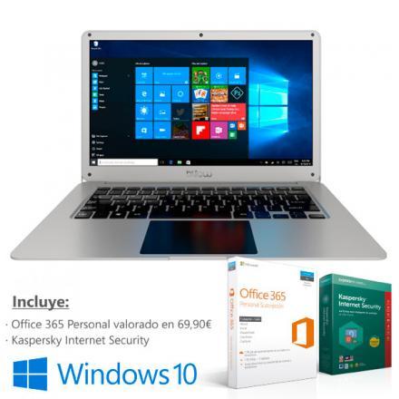 Portatil Billow Xnb100pros Intel Z8350 14.1 2gb 32gb (slot Hd Libre) Rj45 Wifi Bt W10 + Office 365 + Kaspersky Internet Security