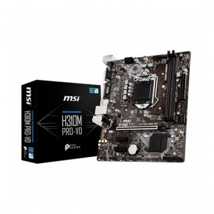 Pb Msi 1151-8g H310m Pro-vd M-atx/2xddr4/4xsata3/1xusb+1xusb3.0 Fp 911-7b33-002 - Imagen 1