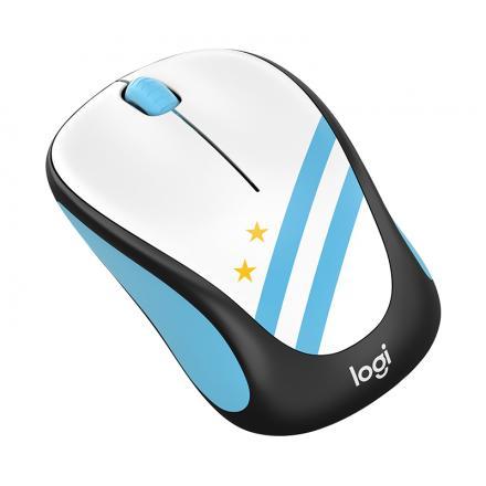 Logitech Raton Inalambrico M238 Fan Collection Argentina,alcance 10 Metros,1000dpi,3 Botones,receptor Usb,1xaa - Imagen 1