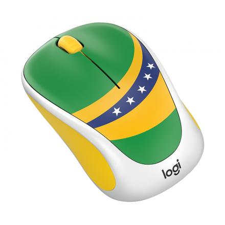 Logitech Raton Inalambrico M238 Fan Collection Brasil,alcance 10 Metros,1000dpi,3 Botones,receptor Usb,1xaa - Imagen 1