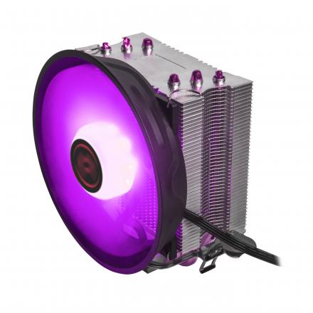 Mars Gamingventilador Con Disipador Para Cpu Mcpu Rgb2 3 Tubos De Cobre Superconductores Aluminio Ventilador De 120mm Pwm Compa