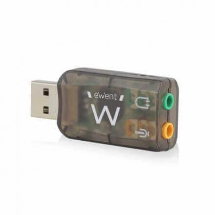 EWENT TARJETA DE SONIDO EXTERNA USB 2.0 EW3751 - Imagen 1