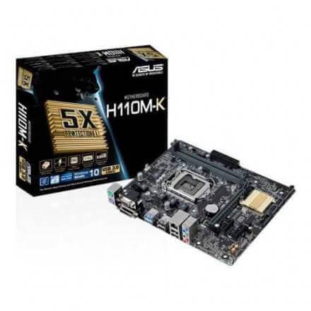 PB ASUS 1151 H110M-K MATX/DDR4/32GB/2USB3/DVI-D/GIGABIT - Imagen 1