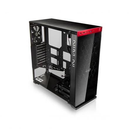 In Win Torre Atx 805c Negro/rojo Usb 3.1 Tipo C/lateral Cristal Templado 3mm 1acfae--000221 - Imagen 1