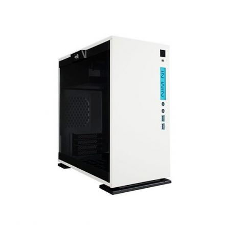 In Win Torre Micro Atx 301 Blanco Frontal Azul/lateral Cristal Templado 3mm 1acfai--000060 - Imagen 1