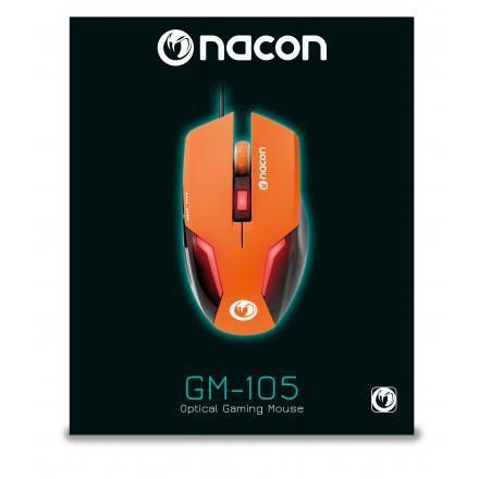 Nacon Raton Pcgm-105orange Gaming Naranja 2400dpi/iluminacion Led/6 Botones/usb Pcgm-105orange - Imagen 1