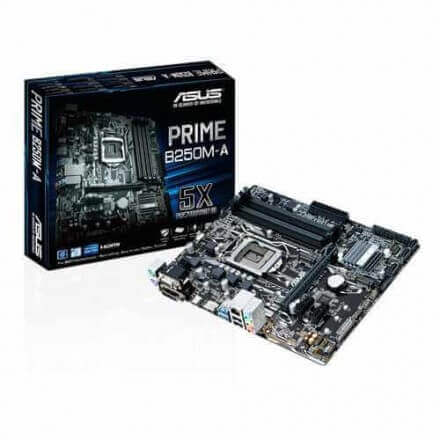 PB ASUS 1151 PRIME B250M-A MATX/4DDR4/HDMI/DVI-D/VGA/2PCI-E/2M.2/1USB-C/4USB3.0 - Imagen 1
