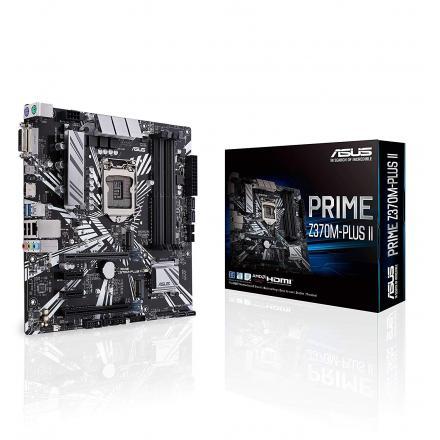 Pb Asus Lga1151v2 Prime Z370m-plus Ii Micro Atx, 4xddr4, 1x Dvi 1x Hdmi - Imagen 1