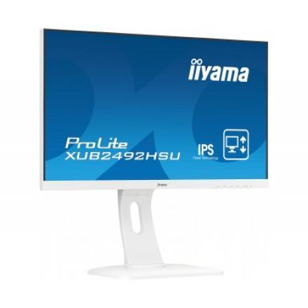 Monitor Iiyama 24\1 Pl Xub2492hsu-w1 Ips 5ms,vga,dp, Hdmi,sp, Pivotante Blanco - Imagen 1