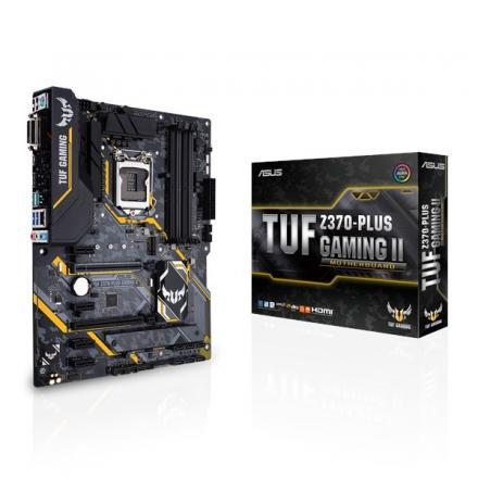 Pb Asus Lga1151 Tuf Z370-plus Gaming Ii - Atx  Z370 Usb-c, Usb 3.1 Gen 1, Usb 3.1 Gen 2 - Gigabit Lan - Hd Audio (8-canales) - I