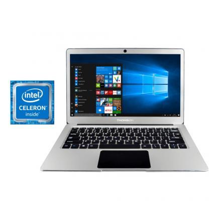 Portatil Thomson Ultrabook Celeron N3350 4gb 32gb 13.3\1 Ips W10 Silver - Imagen 1