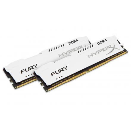 Memoria Kingston Ddr4 16gb (kit 2) 3200mhz Hyperx Fury Cl18 1rx8 White Hx432c18fw2k2/16 - Imagen 1