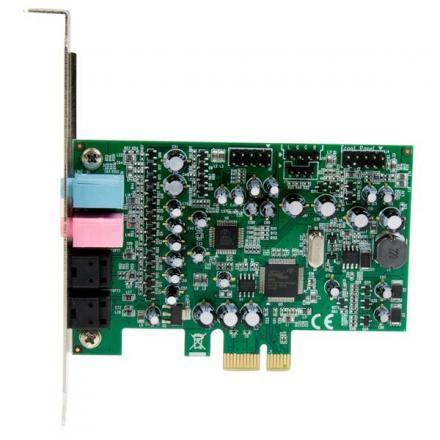 Startech Tarjeta De Sonido Pci Express Sonido Envolvente 7.1 Canales 24bit 192 Khz Pexsound7ch - Imagen 1