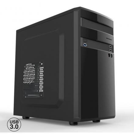 Caja Ordenador Semitorre Micro Atx Oem Phcajamicroatxl/c+  1* Usb 3.0 2*usb 2.0 Sin Fuente Negro Brillante - Imagen 1