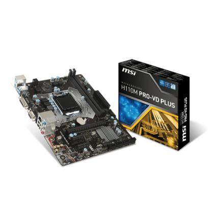 Pb Msi Lga1151 H110m Pro-vd Plus Matx 2xddr4 32gb 4xsata3 Vga Dvi - Imagen 1