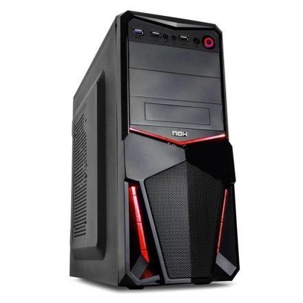 Nox Caja Pc Atx Nx Pax Usb 3.0 Rojo/negro Red Edition Sin Fuente - Imagen 1