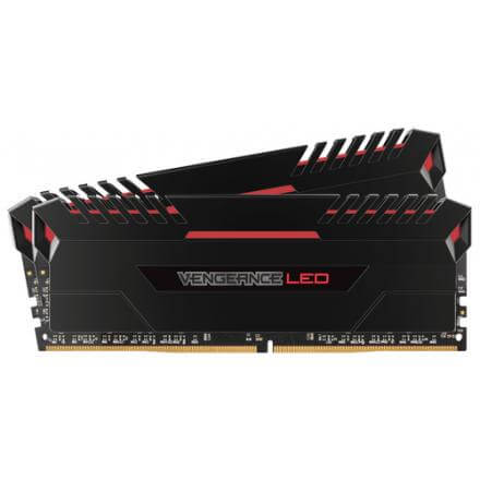 CORSAIR MEMORIA DDR4 16GB PC4-24000 3000MHZ VENGE KIT(2X8GB) LED ROJA 1.35V CMU16GX4M2C3000C15R - Imagen 1