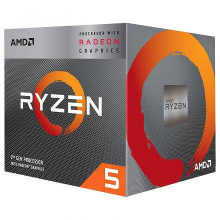Amd Ryzen 5 3400g Box Am4 (4,200ghz) Yd3400c5fhbox With Wraith Stealth Cooler - Imagen 1