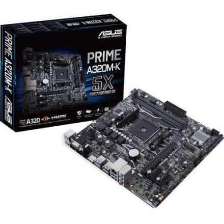 PB ASUS AM4 PRIME A320M-K MATX,DDR4,SATA3,USB3,HDMI - Imagen 1