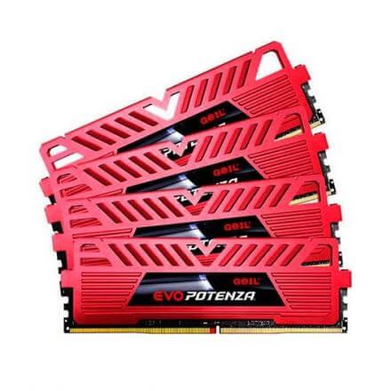 MODULO MEMORIA RAM DDR4 32GB (8GBX4) PC2133 GEIL EVO POTENZ - Imagen 1
