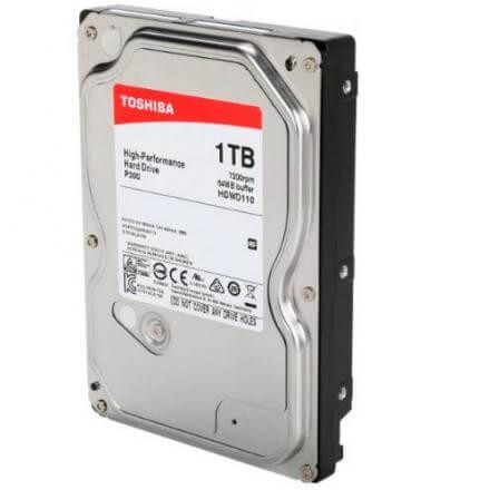 "HD TOSHIBA 1 TB 3.5"" P300 SATA3 7200RPM 64MB 6G HDWD110UZSVA - Imagen 1"