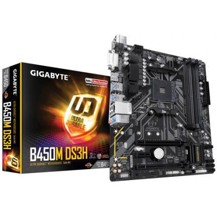 Pb Gigabyte Am4 B450m Ds3h M-atx 4xddr4 4xsata3 2xusb+1xusb3.0 Fp Gab45mdsh-00-g - Imagen 1