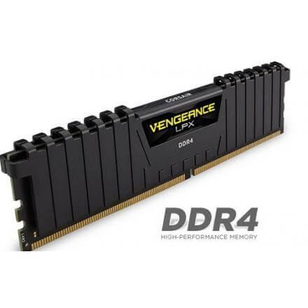 CORSAIR MEMORIA KIT DDR4  16GB(2X8GB) PC4-19200 2400MHZ VENGE LPX - Imagen 1