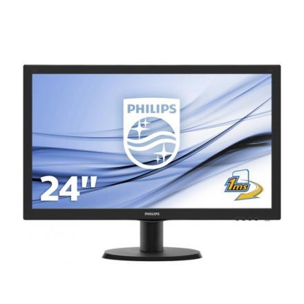 Philips Monitor 23.6\1 V-line 243v5lhsb Led,dvi-d,hdmi,fullhd,1ms,1000:1,250cd/m2,negro - Imagen 1