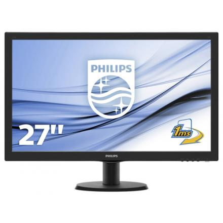 Philips Monitor 27\1 273v5lhab  Led Multimedia Dvi Hdmi 1920 X 1080  60hz 5ms 10m:1 Negro - Imagen 1