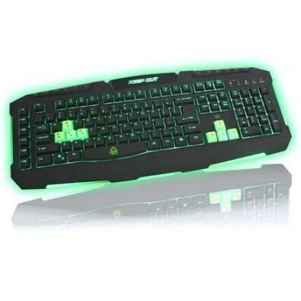 Keepout Gaming Teclado F90s 3 Perfiles  8 Intercambiables Cable 2metros - Imagen 1