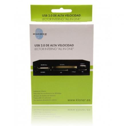 LECTOR TARJETA INT 3.5  KL-TECH MULTITARJ USB 2.0 - Imagen 1