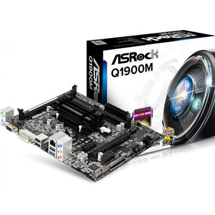 PLACA BASE ASROCK Q1900M CPU INTEL QUAD CORE - Imagen 1