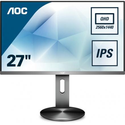 MONITOR LED IPS 27  AOC Q2790PQU/BT NEGRO/PLATA - Imagen 1