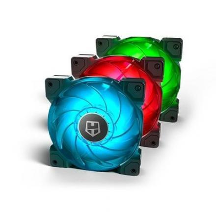 VENTILADOR 120X120 NOX HUMMER H-SYNC RGB PACK 3UDS - Imagen 1