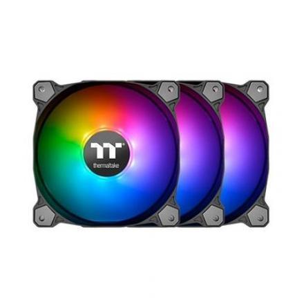 VENTILADOR 120X120 THERMALTAKE PURE 12 ARGB TT PACK 3 UDS - Imagen 1