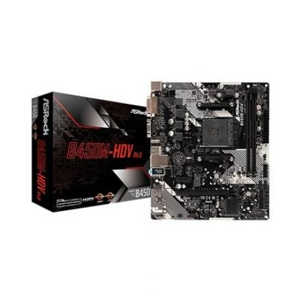 PLACA BASE ASROCK AM4 B450M HDV R4.0 - Imagen 1