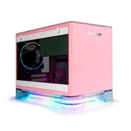 TORRE MINI ITX 650W IN WIN A1 PLUS ROSA - Imagen 1