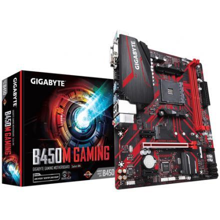 Pbgigabyte Amd B450m Gaming Ddr4x2 32gb Vga Dvi-d Hdmi Micro Atx - Imagen 1