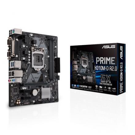 Pb Asus Lga1151 Prime H310m-d R2.0 Matx, 2xd4 2666 ,usb3.0 H4 - Imagen 1