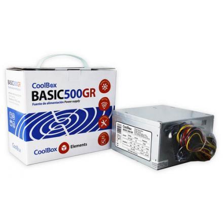 Coolbox Fuente Alimentacion Atx 500w Basic 500gr Negra (10) - Imagen 1