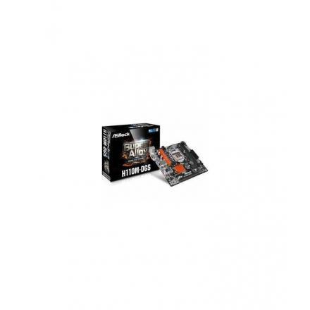 Pb Asrock Lga1151 H110m-dgs R3.0  Micro Atx, 2xddr4, Pcie, 6xsata3, 4xusb3, 2xpci, Dvi - Imagen 1