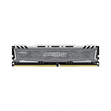 Memoria crucial ddr4 8gb Pc2666 C16 Oc 1x8gb,ballistix Sort Lt Grey - Imagen 1