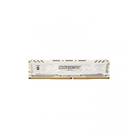 Memoria crucial ddr4 8gb Pc2666 C16 Oc 1x8gb,ballistix Sort Lt White - Imagen 1