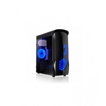 L-link Caja Pc Atx Kron Led Azul Usb 3.0 Lateral Transparente - Imagen 1