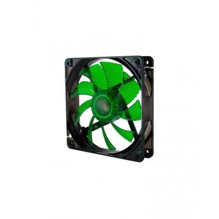 Nox Ventilador Caja Coolfan 12x12 Led 19 Dba. Verde - Imagen 1