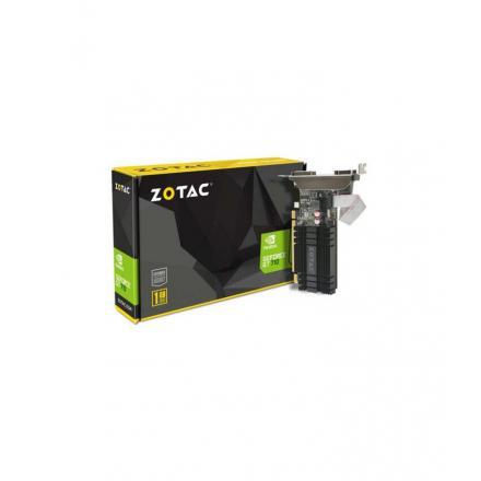 Vga Zotac Gt 710 1gb Ddr3 Zone Edition Zotac Zt-71301-20l, Geforce Gt 710, 1 Gb, Gddr3, 64 Bit, 4096 X 2160 Pixeles, Pci Express